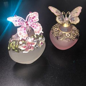 Crystal butterfly bottles